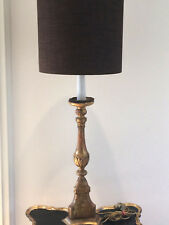 Antique 1850-1900 Church gilded crafted wood candlelight holder