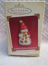 "HALLMARK KEEPSAKE SNOWMEN ORNAMENT 2005  ""A HAPPY LITTLE SNOWMAN"" - NEW IN BOX"