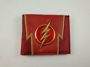 THE FLASH Logo Wallet PU Leather and metal DC Comics Barry Allen Lightning red