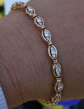"1.60ct G/VS Diamond tennis link bracelet 14k YG 7"""