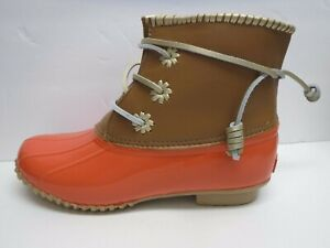 Jack Rogers Size 9 Orange Brown Rain Boots New Womens Shoes