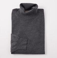 NWT $850 CRUCIANI Medium Gray Superfine Cashmere-Silk Sweater L (Eu 54)