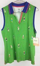 Rafaella Womens Large Green and Blue Golf Vest