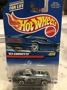 Hot wheels '63 Corvette COLLECTOR#1079 1:16  Mettel Wheels (FREE SHIPPING)