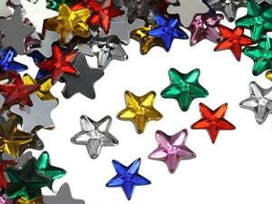 5mm Star Rhinestones Embelishments Flat Back Acrylic Plastic Face Gems 125Pcs