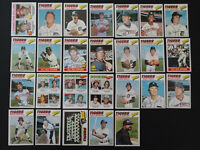 1977 Topps Detroit Tigers Team Set of 26 Baseball Cards
