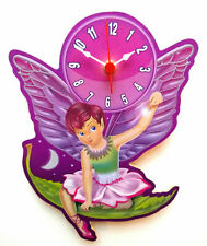CHILDRENS TINKERBELL FAIRY CLOCK HAND MADE WOODEN CLOCK NURSERY CLOCK PETER PAN