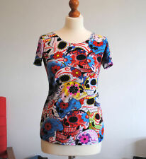 Unbranded Polyester Crew Neck Skull T-Shirts for Women