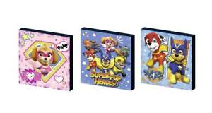 new PAW PATROL SUPERHEROES CANVAS ART BLOCKS/ WALL ART PLAQUES/PICTURES