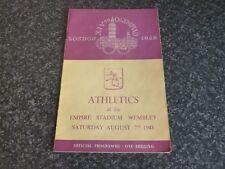 LONDON AUG 7TH 1948 OLYMPIC GAMES ATHLETICS EMPIRE STADIUM WEMBLEY PROGRAMME