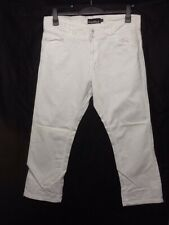 Dean St. Troper France Women's Capris, Cropped White Cotton Pants Size 12     Z2