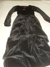 Antique - Vintage Black Velvet  Dress