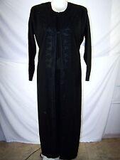 "Black Emroidered Rhinestone Kurta Pajamas Womens 56"" XXL XXXL Muslim Clothing"