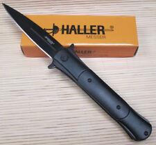 Ha Taschenmesser Einhandmesser Klappmesser Stilett Stiletto Messer schwarz 83221