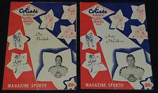 1952 - CHICOUTIMI vs MONTREAL / VALLEYFIELD - QSHL - HOCKEY PROGRAMS (2)