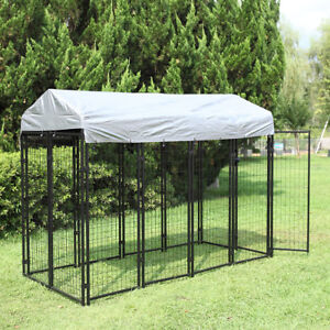 71'' H Large Outdoor Dog Kennel Pet Pen House Cage Sun Cover Shade Run Shelter