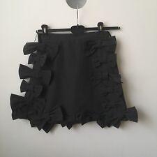 SWANKISS 🌸 Grey Bow Cute Mini Skirt Larme Kawaii Japan Ribbon Liz Lisa