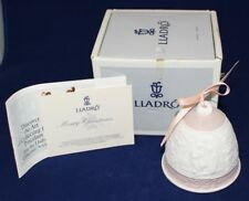 Lladro 1991 Porcelain Christmas Bell with Peach Ribbon - Daisa 1990, Hallmarked