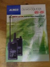 Alinco DJ-S45T/E/S45  product leaflet genuine  1 page- double sided in colour