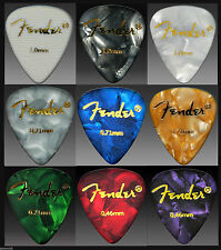 9 FENDER GUITAR PICKS Mixed Gauge & color