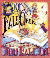 Books Fall Open You Fall In-Handcrafted Reading Magnet-w/Mary Engelbreit art