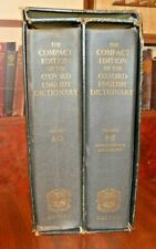 2 VOL SET THE COMPACT EDITION OF THE OXFORD ENGLISH DICTIONARY  1971 1st ED.