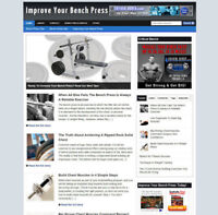 BENCH PRESS ADVICE WEBSITE AND STORE WITH AFFILIATE BANNERS AND NEW DOMAIN