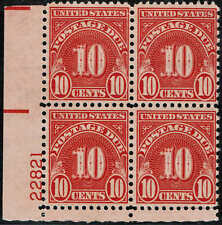 "#J84 PB 1931 10c POSTAGE DUE ""WET/EYE PRINT"" ISSUE MINT-NH"