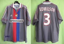 Maillot Adidas Olympique Lyonnais 2000 OL Lyon Edmilson Ligue #3 Infogrames - L