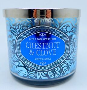 BATH & BODY WORKS CHESTNUT & CLOVE SCENTED 3 WICK CANDLE LARGE 14.5oz NEW