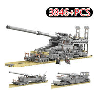 "Railway ""Dora"" Gun Military Series Toys For Kids 10005 3846Pcs Building Block"