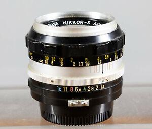 Nikon NIKKOR-S 50mm F1.4 Fast Prime Non-Ai Lens Manual Focus.  Tested!