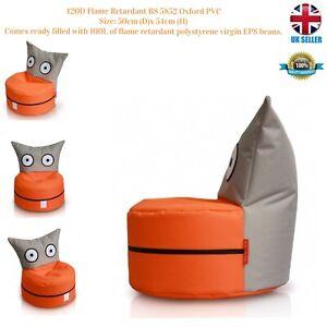 kids Owl Bean Bag420D Flame Retardant BS 5852 Oxford PVC50cm (D)x 54cm (H) O/G