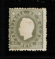Macao SC# 41, Perf 12.5, Mint No Gum, repaired center tear - S5495
