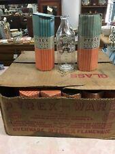 1930's Antique 33 PYREX 8oz Nursing Baby Bottles 6 Sided Glass Corning  Box 58N