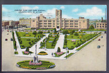 ATLANTIC CITY NEW JERSEY NJ Chelsea park High School Old Cars  1948 Postcard