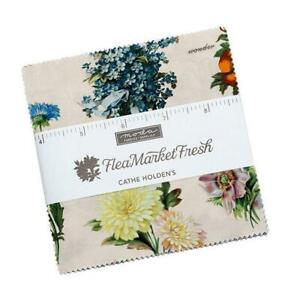 Moda Flea Market  Fresh Charm Pack Fabric By Cathe Holden Quilting Sewing Craft