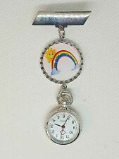 RAINBOW  theme watch - nurse ,  beautician , uniform watch smile sun
