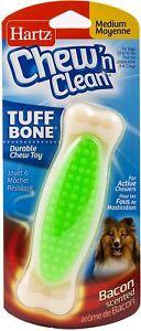 Hartz Chew 'n Clean Bacon Flavored Dog Chew Toy, Tuff Bone - Medium