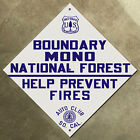 Mono Forest California ACSC highway road sign auto club AAA USFS Sierra Nevada