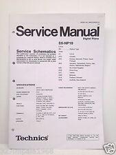 Technics Original Service Manual Schematics SX-NP10 Digital Piano