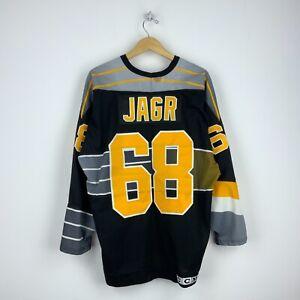 Jaromir Jagr Pittsburgh Penguins CCM Vintage Jersey Size XL Black Robo Pens