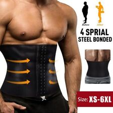 MEN EXTREME SLIMMING BODY SHAPER WAIST GIRDLE TRAINER BELT SPORT CINCHER CORSET