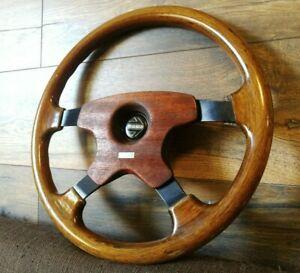 MOMO WOOD Steering Wheel Made in Italy Mercedes Audi VW BMW Toyota Honda Mazda