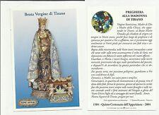 87651 santino preghiera alla madonna di tirano sondrio holy card