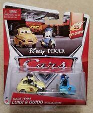 Disney Pixar Cars 2 • Race Team Luigi Guido Headsets • 2014 95 Pit Crew Cardback