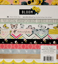 Crate Paper Bloom 6 x 6 Scrapbook Paper Pad