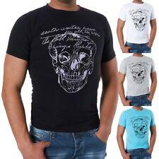 M286 NORD STAR Herren Poloshirt T-Shirt Kurzarm Slim Fit Schädel Aufdruck Sommer
