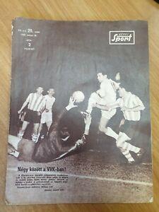 magazine KEPES SPORT football FC Ferencvarosi vs FC Athletic Bilbao Hungary 1966