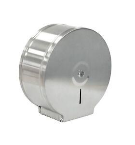 Jumbo Paper Tissue Roll Dispenser Brushed Stainless Steel Commercial